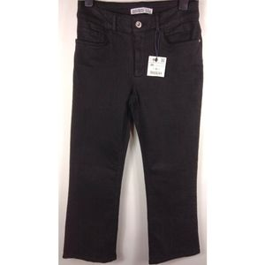 NWT ZARA Basic 1975 Black Crop Denim Jeans Size 6